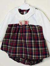 Load image into Gallery viewer, CALAMARO - Tartan Dress With Pompom And Matching Bloomers