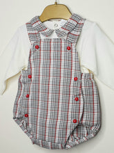 Load image into Gallery viewer, Boys Traditional Houndstooth Romper With Shirt
