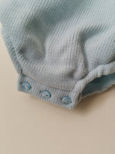 Load image into Gallery viewer, Baby Blue Spanish Knit Romper