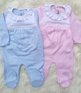 CALAMARO Baby Girls Cotton Sleepsuit