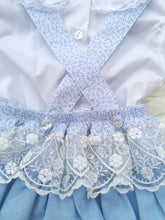 Load image into Gallery viewer, Blue Portugese Layered Lace Frill Romper With Shirt