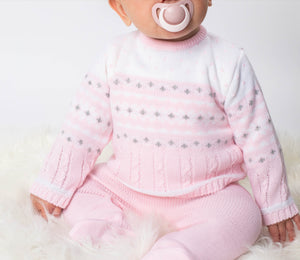 Girls Knitted Winter Wonderland 2 Piece Outfit