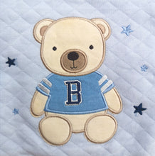 Load image into Gallery viewer, Baby Boy Teddy Bear Quilted Top, Pants And Socks Set