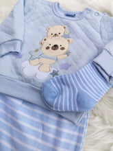 Load image into Gallery viewer, Baby Teddy Bear Quilted Top, Pants And Socks Set