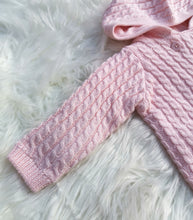 Load image into Gallery viewer, Pink Cotton Double Layer Knit Jacket And Pant Outfit
