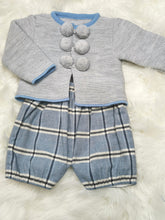 Load image into Gallery viewer, Traditional Boys Knitted Top And Tartan Shorts