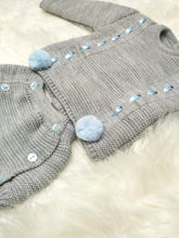 Load image into Gallery viewer, Grey Traditional All Knit Outfit With Pompoms
