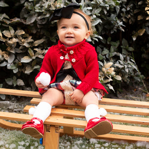 Exclusive Girls Tartan Romper With Ruffle Bum And Shirt Designed By Henry's Wardrobe