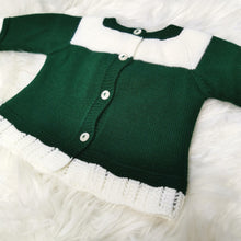 Load image into Gallery viewer, Portuguese Green Knit 2 Piece With Pompom Hat