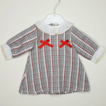 Load image into Gallery viewer, Girls Houndstooth Dress With Frill Collar And Cuffs