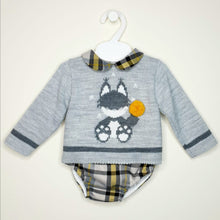 Load image into Gallery viewer, Boys Traditional Jumper And Jam Pants Set With Fox