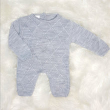 Load image into Gallery viewer, Traditional Boys Grey Knit Romper
