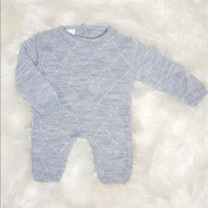 Traditional Boys Grey Knit Romper