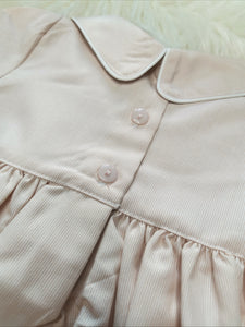 Traditional Boys Cream Smocked Romper
