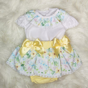 Girls Summer Dress With Flowers And Bows