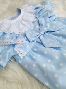 Baby Girls Portuguese Blue Star Romper