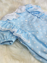 Load image into Gallery viewer, Baby Girls Portuguese Blue Star Romper