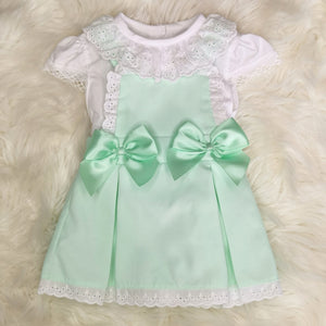 Portuguese Pinafore Style Dress With Ribbon And Bows