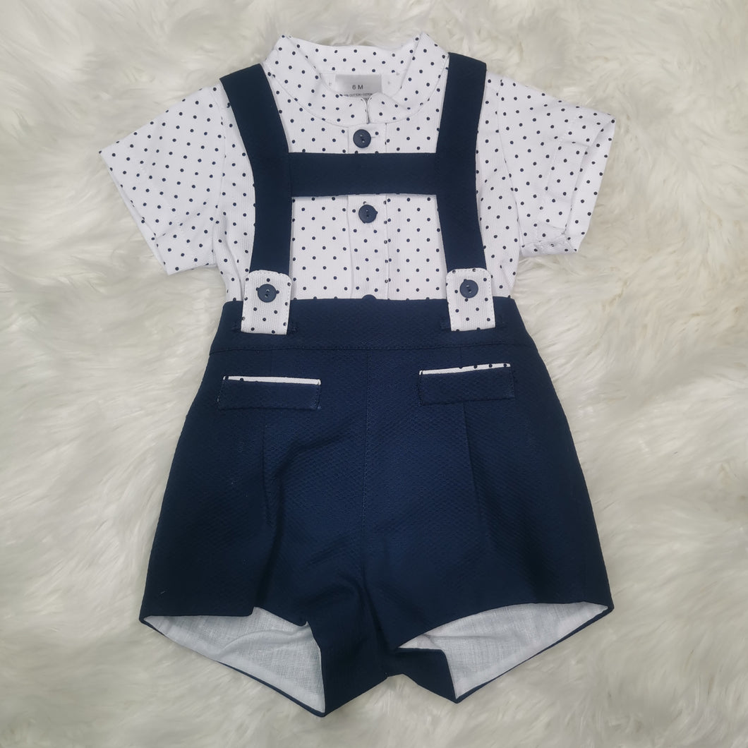 Traditional Boys Navy Blue H-Bar Outfit