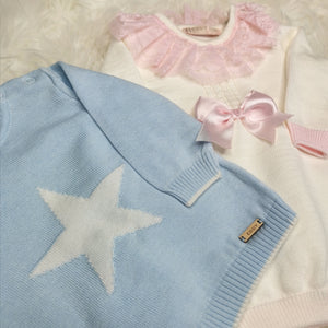 Boys Blue And White Lounge Set With Star