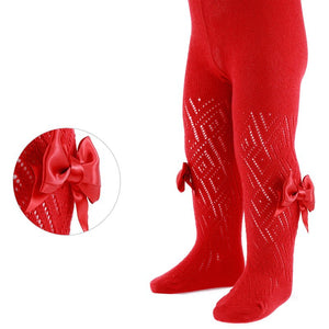 Red Pelerine Tights With Bow