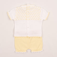 Load image into Gallery viewer, Girls Yellow Portuguese Fine Knit Outfit