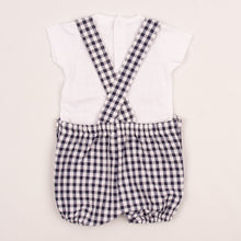 Load image into Gallery viewer, Baby Boys Checked Dungarees & T-Shirt By Brand Dandelion