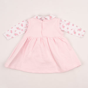 Pretty Pink Baby Girls Dress With Roses
