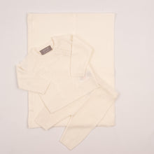 Load image into Gallery viewer, Baby Unisex Cream Knit Outfit With Matching Shawl