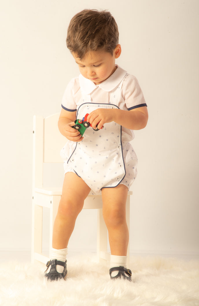 Traditional Spanish Boys Romper With Shirt