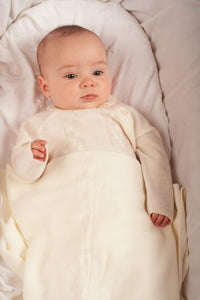 Baby Unisex Cream Knit Outfit With Matching Shawl