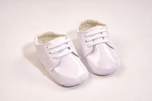 Baby Boys Off White Pram Shoes With Laces