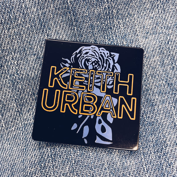 Neon Rose Enamel Pin