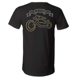 """We Were"" Bike Black Unisex V-Neck T-Shirt"