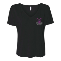 """We Were"" Bike Black Ladies V-Neck T-Shirt"
