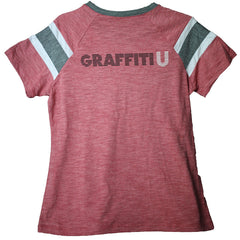 Graffiti U World Tour in Coral Red - Ladies Keith Urban Jersey