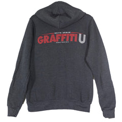 Grey Zip Graffiti U World Tour Hoodie