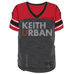 GRAFFITI U WORLD TOUR IN DARK RED - LADIES KEITH URBAN JERSEY