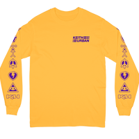 Icon Line - Gold Long Sleeve Tee