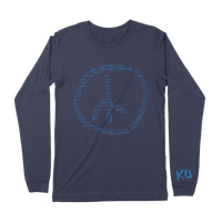 KU Peace Sign Long Sleeve Tee