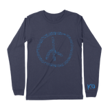 KU Peace Sign Navy Long Sleeve Tee