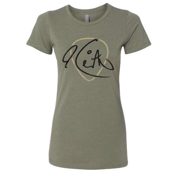 Keith Signature Guitar Pick Light Olive Ladies Tee
