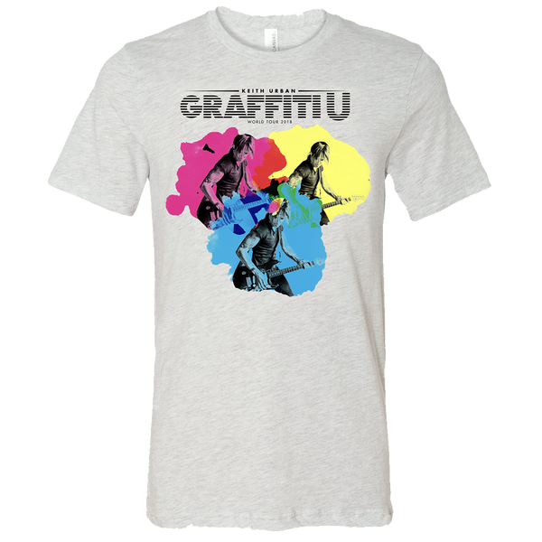 GRAFFITI U WORLD TOUR 3 IMAGE ASH GREY TEE