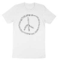 KU White Peace Sign Tee