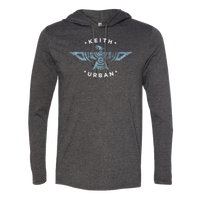 Lightweight Long Sleeve Hooded T-Shirt - Blue Phoenix