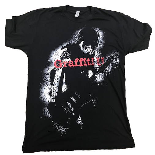 BLACK GRAFFITI U GRAPHIC T-SHIRT