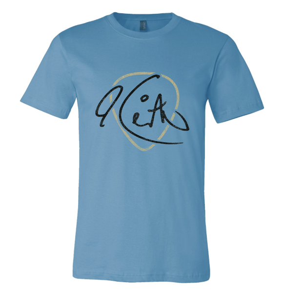 Keith Signature Guitar Pick Ocean Blue Unisex Tee