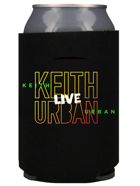 Black Keith Urban Live Logo Koozie