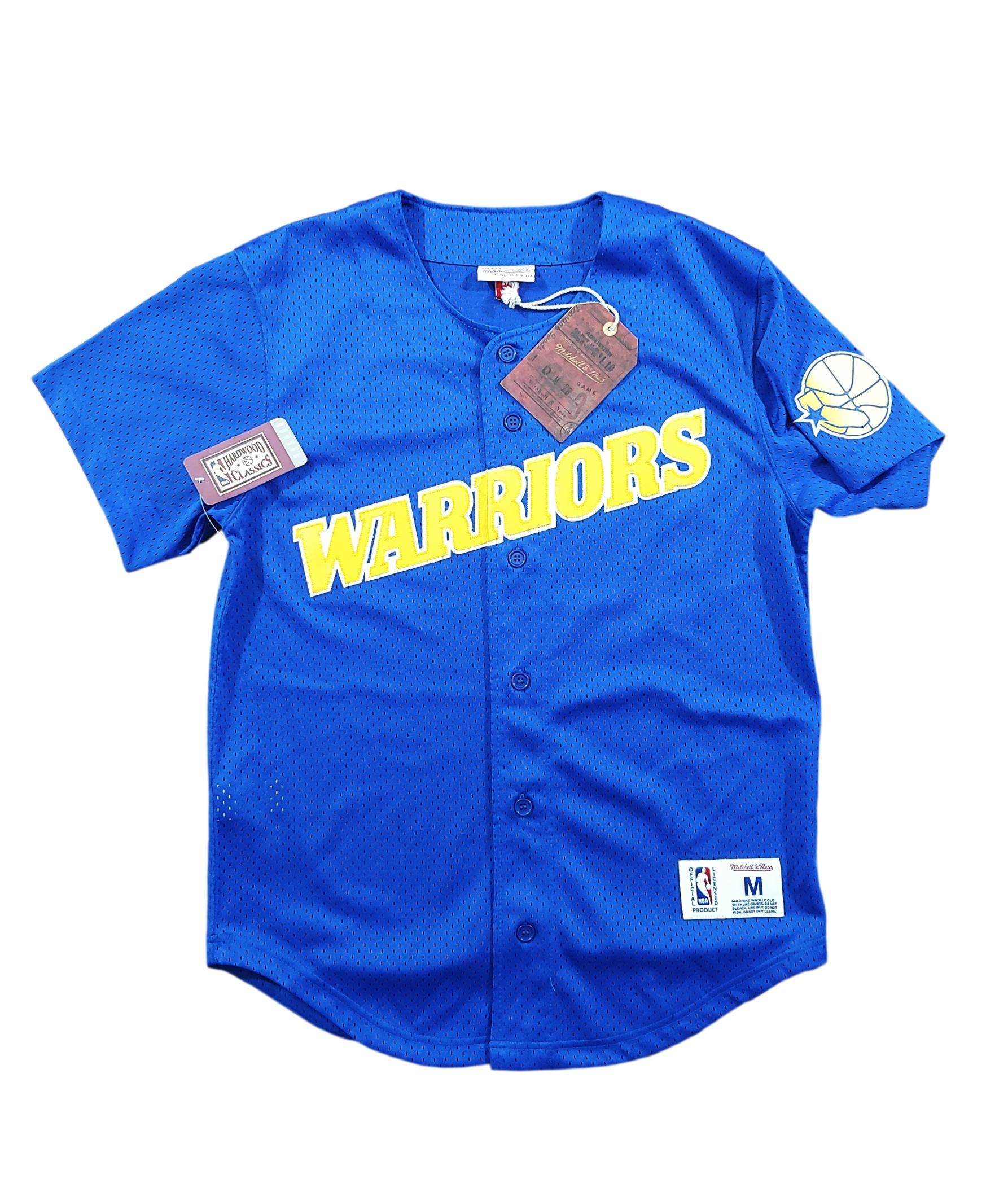 Golden State Warriors Baseball Jersey Mitchell & Ness Sz M