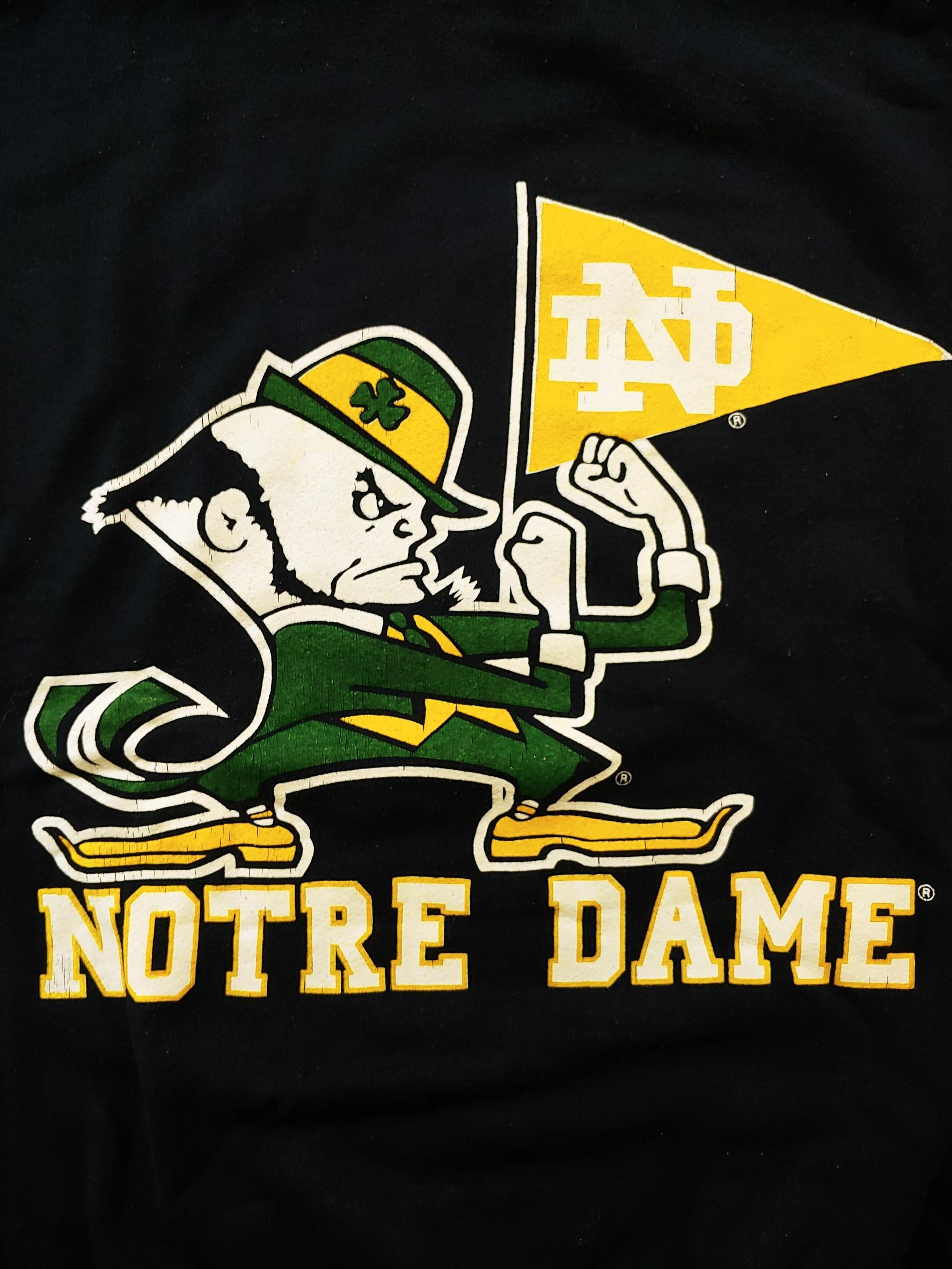 Vintage Notre Dame University Fighting Irish Sweater Sz XL